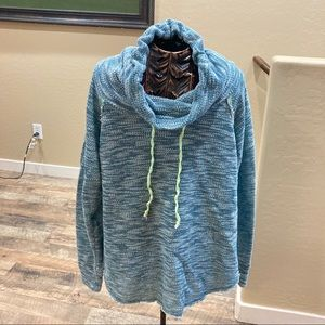 Happening in the Present cowl neck nubby pullover